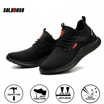 Safety Work Shoes For Men Steel Toe Cap Indestructible Work Boots Anti-smashing Men Construction Boots Working Sneakers suadeex steel toe boots for men military work boots indestructible work shoes desert combat safety boots army safety shoes