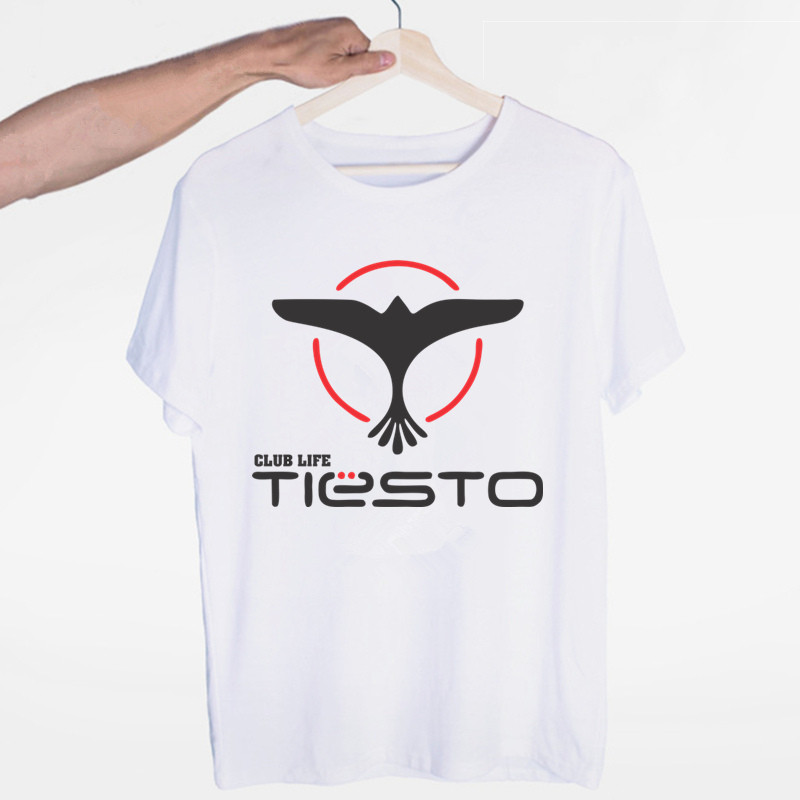 Men's Tiesto DJ Music T-shirt O-Neck Short Sleeves Summer Casual Fashion Unisex Men And Women Tshirt