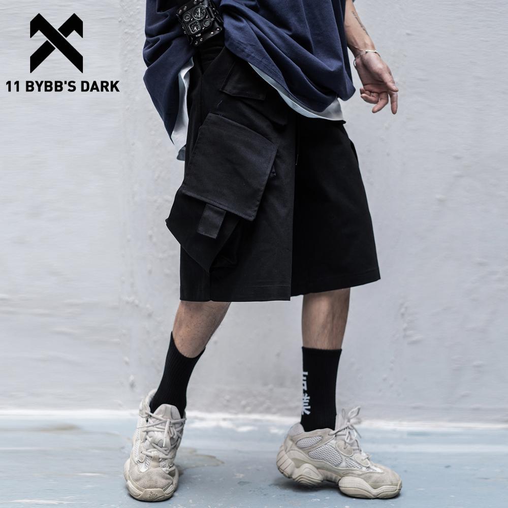 11 BYBB'S DARK Hip Hop Cargo Shorts Mens 2020SS Summer Multi Pockets Casual Knee Length Male Short Pants Joggers Streetwear