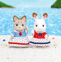 Semipkg Children Sylvanian Families Toy Double Water Gloves GIRL'S Play House Doll Toy 5232