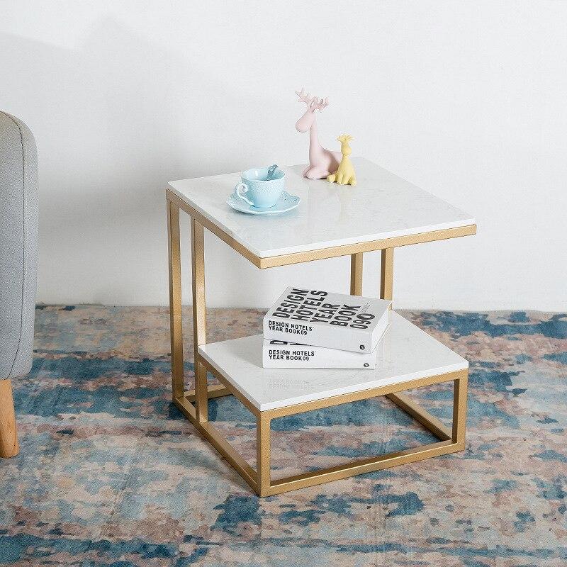 Nordic 2019 Marble Small Tea Table Living Room Net Red Iron Sofa Side Table Bedside Table Bedside Table Creative Table