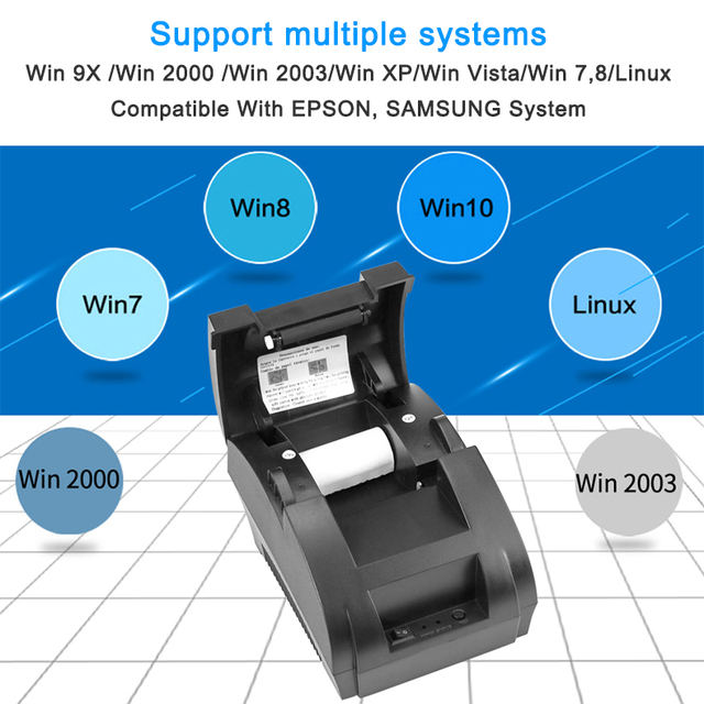 NETUM NT-1809DD 58mm Bluetooth Thermal Receipt Printer for Android IOS Windows AND 5890T RS232 Port Receipt Printer POS Portable 6