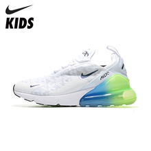 цена на Nike Air Max 270 (gs) Kids Will Official Children Running Shoes Outdoor Comfortable Sports Sneakers #AQ9164