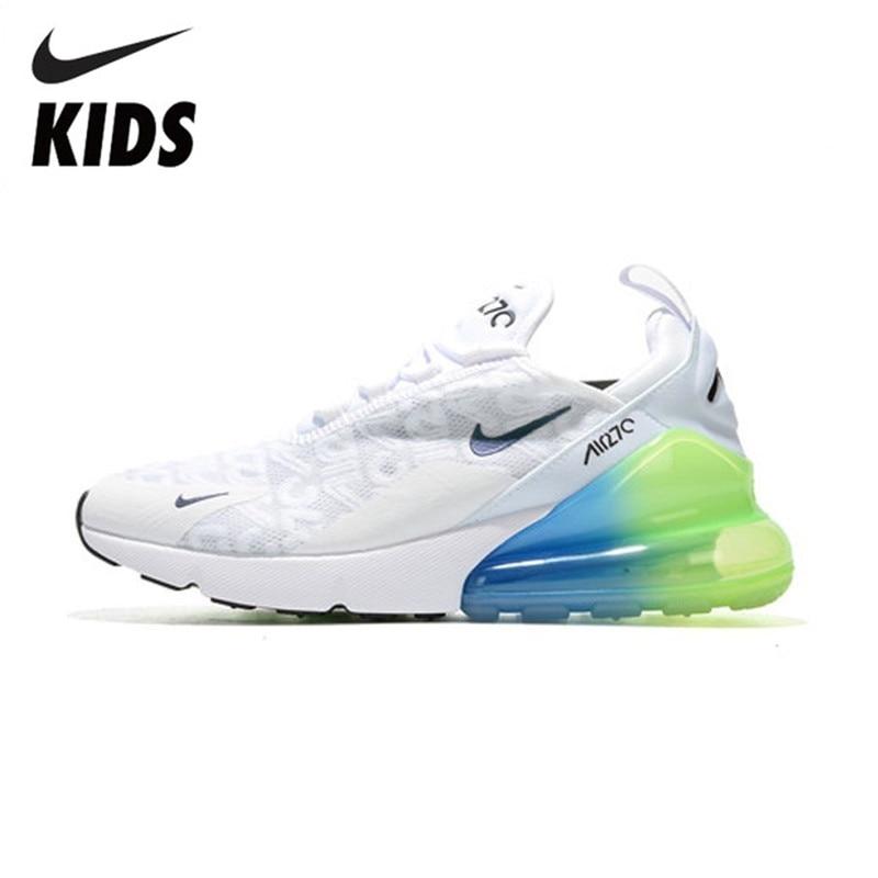 Nike Air Max 270 (gs) enfants sera officiel enfants chaussures de course en plein Air confortable sport baskets # AQ9164