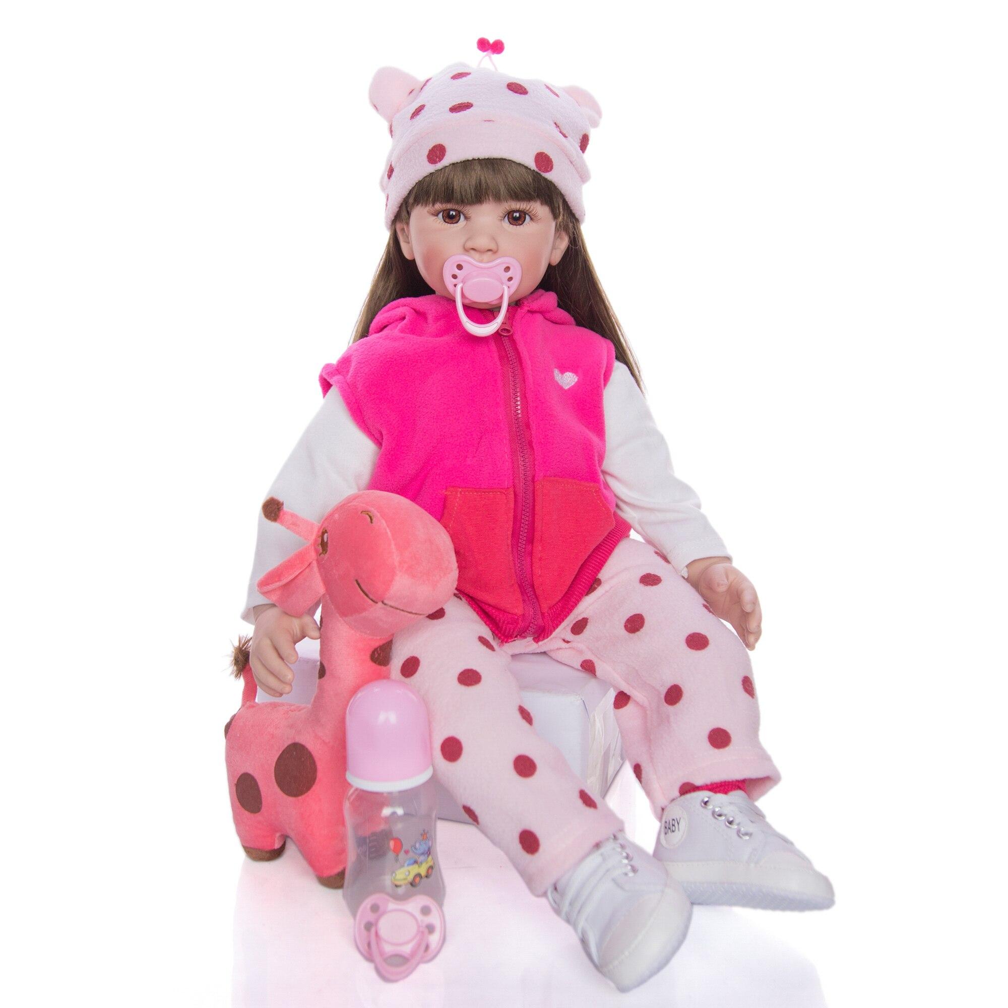 Горячая Распродажа, 24 дюймовые куклы для новорожденных, Модные Силиконовые Мягкие реалистичные куклы для девочек, Этнические куклы для дет...