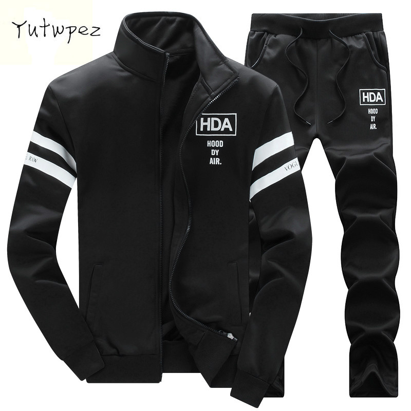 Yutwpez Brand New Men Sets Fashion Autumn Spring Sporting Suit Sweatshirt +Sweatpants Mens Clothing 2 Pieces Sets Slim Tracksuit