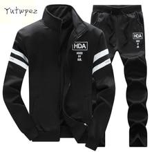 Yutwpez Brand New Men Sets Fashion Autumn Spring Sporting Suit Sweatshirt +Sweatpants Mens Clothing 2 Pieces Sets Slim Tracksuit