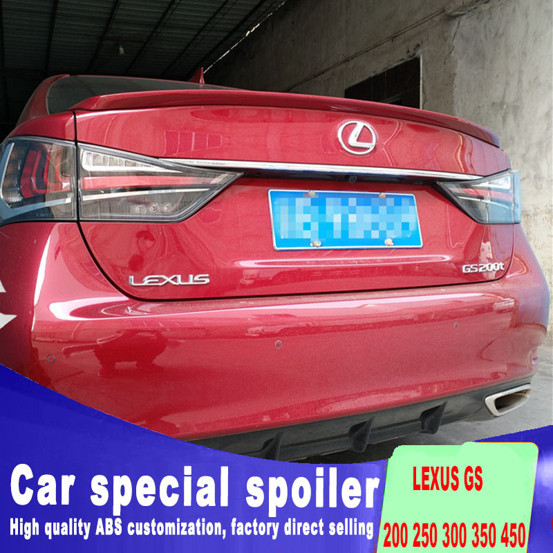 For <font><b>LEXUS</b></font> GS 200 <font><b>250</b></font> 300 350 450 model spoiler new design 2012 2013 <font><b>2014</b></font> 2015 2016 2017 2018 to up by primer or DIY color paint image