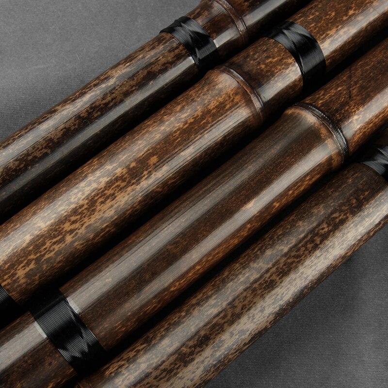 Китайская традиционная флейта 2-х секционный Сяо ключ G F бамбуковые солнечные очки ручной работы, ветро-инструмент 8 отверстий легко носить с собой