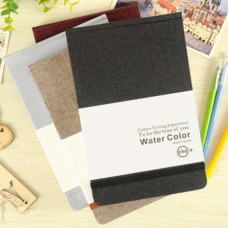 A5 Sketchbook For Watercolor Painting Hard Cover Notebook Travel Cuaderno Drawing Note Book Libreta Stationery Notepad Planner