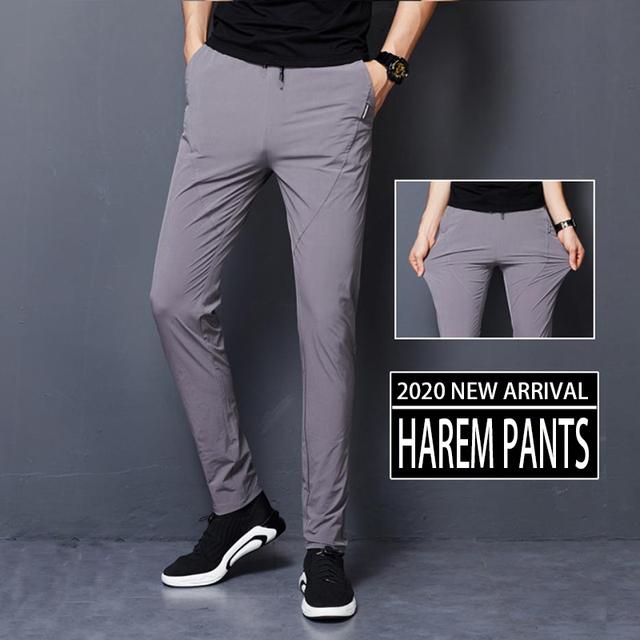 Warm thin Pants Loose Elastic Waist Plus Size 4XL 5XL