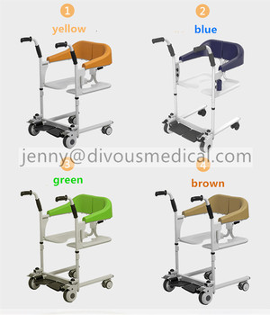 Multi-function lift mobile machine with toilet and bathroom function chipper for the elderly manual Moving wheelchair