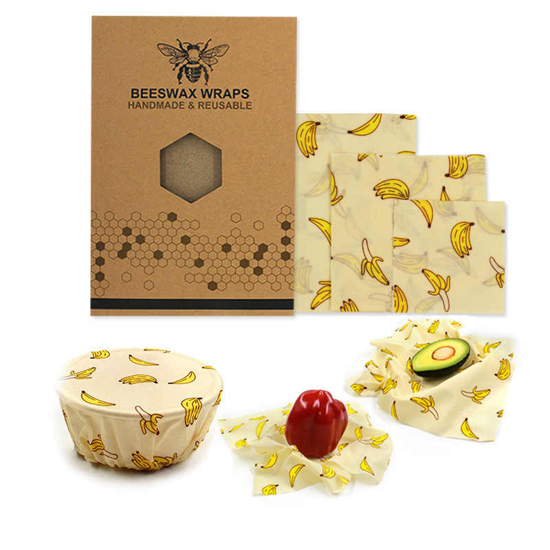 Environmental protection Food Wrap Beeswax Cloth Kitchen Tools Reusable Silicone Wrap Seal Food Fresh Keeping Wrap plastic wrap