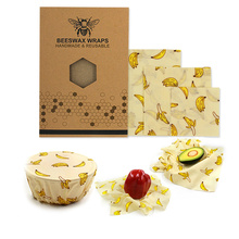 Environmental protection Food Wrap Beeswax Cloth Kitchen Tools Reusable Silicone Seal Fresh Keeping plastic wrap