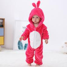 MICHLEY Baby Unisex Cartoon Hooded Romper Long Sleeve Soft Flannel Kids Pajamas Cute Cosplay Costumes Casual Clothing