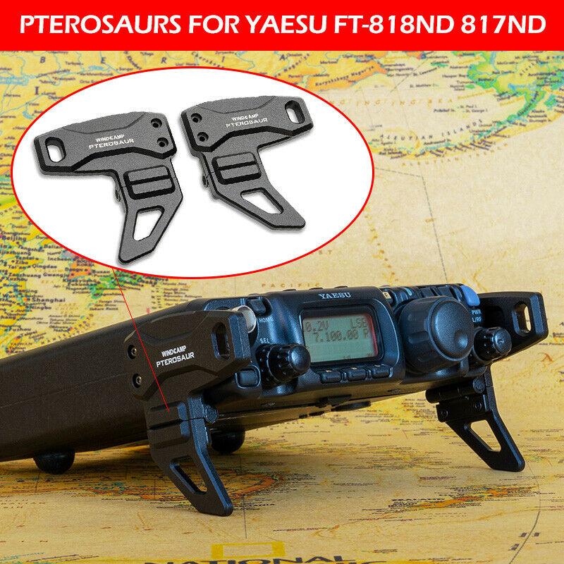 Aluminum Alloy Pterosaurs Stand Foot Bracket  For YAESU FT-818ND 817ND FT-817  FT-818  HF Ham Radio WindCamp