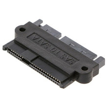 Disco drive raid plug adaptador 1 pces profissional SFF-8482 sas 22 pinos para 7 pinos + 15 pinos sata duro