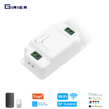 GIRIER Smart Wifi DIY Switch 220V, 433Mhz RF Light Switch, Tuya App Voice Timing