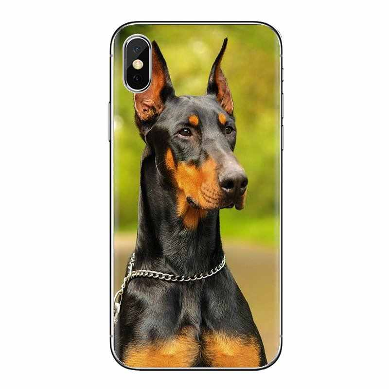 Cep telefonu kapak için Huawei Nova 2 3 2i 3i Y6 Y7 Y9 başbakan Pro GR3 GR5 2017 2018 2019 Y5II y6II Pinscher Doberman köpek dil yüz