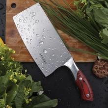 Chinese Keuken Mes 4Cr13 Hoge Carbon Cleaver Duurzaam Chef Snijden Hakmes Ultra Sharp Blade Kleur Houten Handvat Messen
