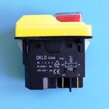 DKLD DZ04 4 핀 방수 전자기 푸시 버튼 스위치 연삭기 시작 스톱 스위치 250VAC 8(6)A