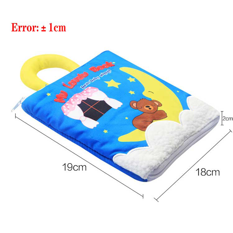 Baby Cloth Book Soft Washable 3D Parent-Children Interactive My First Book Practice Hand Early Learning Educational Quite Books 6
