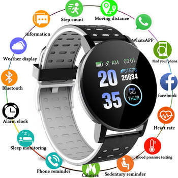 FXM 2020 Smart Bracelet Watch Men Digital Watch Heart Rate Smart Watch Wristband Sports Watches Band Smartwatch For Android IOS