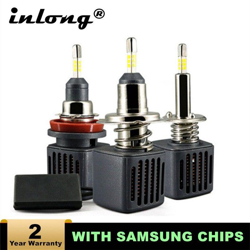 H7 H1 Led Bulb With Samsung Chip H11 Led Car Headlight D2S D4S H4  H8 9005 HB3 9006 HB4 D1S Car Led Lamp 10000LM 6500K Fog Light Car Headlight Bulbs(LED)    - AliExpress