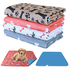 Mat Diapers-Pads Sofa-Bed Absorbent Dog-Cat-Diaper Dogs Washable Floor Bone-Paw-Print