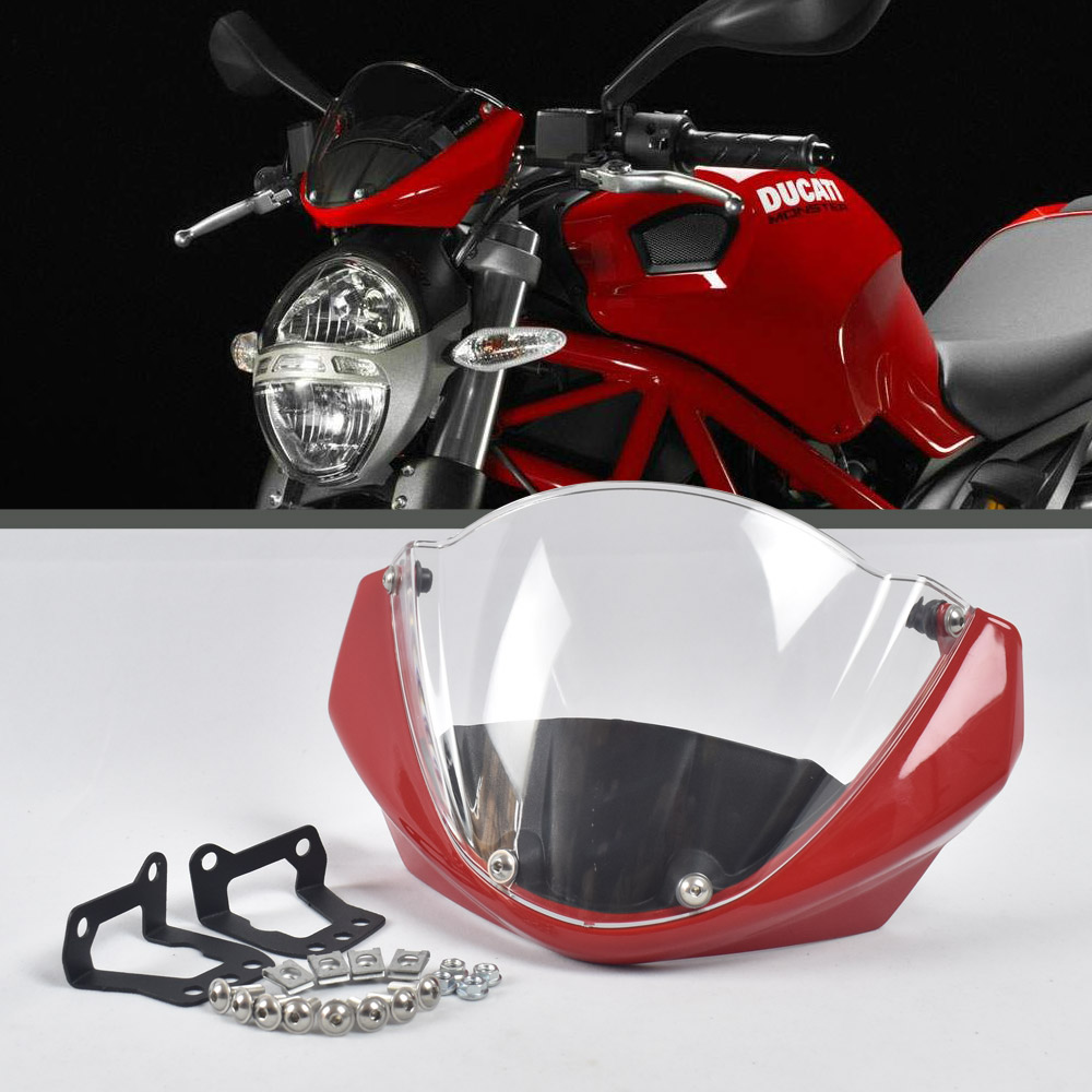 Windshield head cover for Ducati Monster 696 795 796 1100