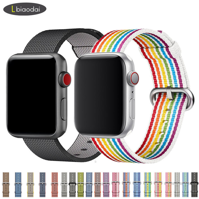 Nylon Strap For Apple Watch Band 38mm 42mm IWatch 4 Band 44mm 40mm Sport Fabric-feel Bracelet Watchband For Apple Watch 5 4 3 21