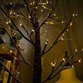 Светодиодный светильник в виде березы и снежной елки  рождественские украшения для дома  ночник  современный праздничный Сказочный светиль...