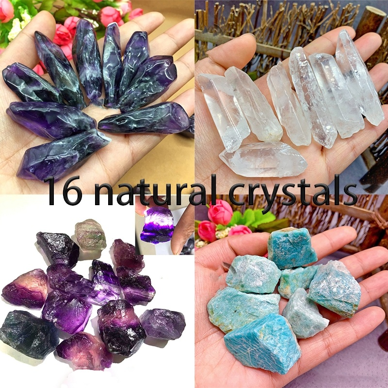 30-50g Natural Rare Raw Obsidian Colored Fluorite Gemstone Mineral Specimen Crystal Reiki Healing Advanced Collection Diy
