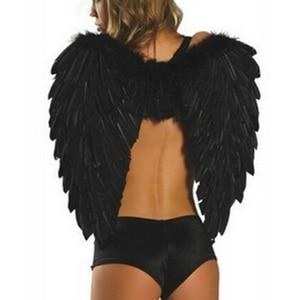 Image 3 - Angel wings ปีกขนนก Photo Prop คอสเพลย์ปีกสีดำปีกเวทีแสดงฮาโลวีนเครื่องแต่งกายงานแต่งงานวันเกิดของขวัญ Decors