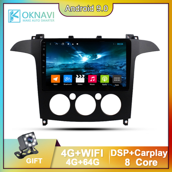 OKNAVI Car Radio Multimedia Autoradio For Ford S-Max 2007 2008 & Canbus Accessories 9 Inch Navigation GPS Player 4G Android 9.0 image