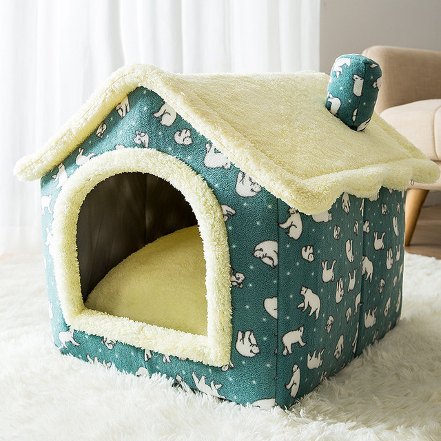 Removable Cat Bed House Kennel Nest Pet Nest Cat Tent Dog Bed Warm Dog House Cushion Sofa Bed Pet Products Cat House Pet Bed 1