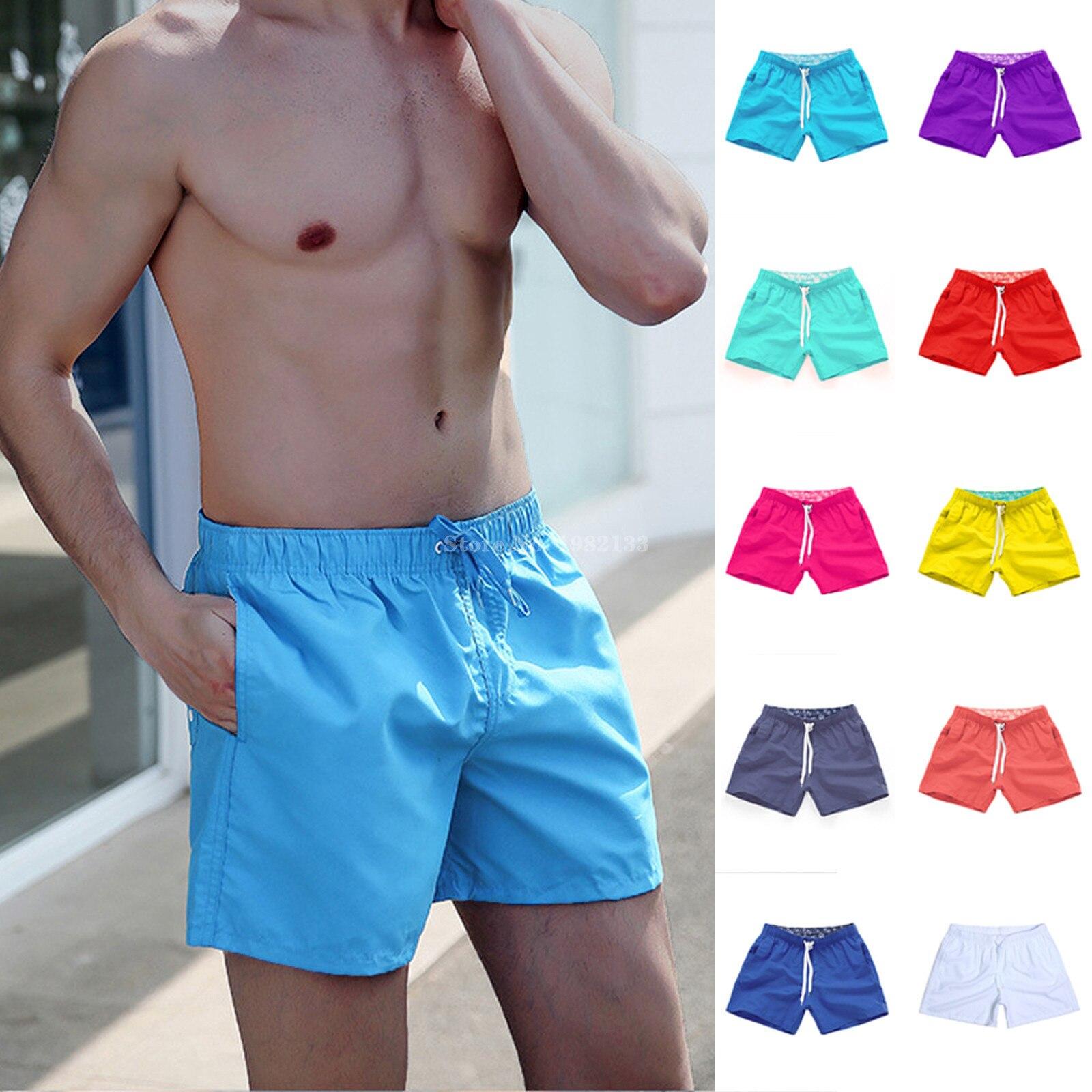 Swimming trunks men Summer Breeches board shorts Casual Bermudas Black White Boardshorts Homme Classic Clothing Beach Short Male 1