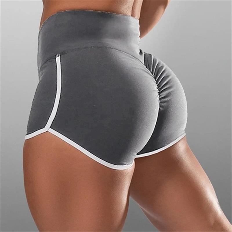 New Summer Sport Shorts Women High Waist Elasticated Seamless Fitness Leggings Push Up Gym Training Gym Tights Pocket Short 3