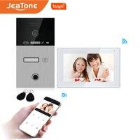 New WiFi IP Video Door Phone Intercom System Tuya Smart App Remote Unlock Code Keypad+RFIC Card+Fingerprint Home Access Control