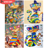 HUACAN Painting By Numbers Cat Drawing On Canvas HandPainted Art Gift DIY Picture By Number Cartoon Animal Kits Home Decoration