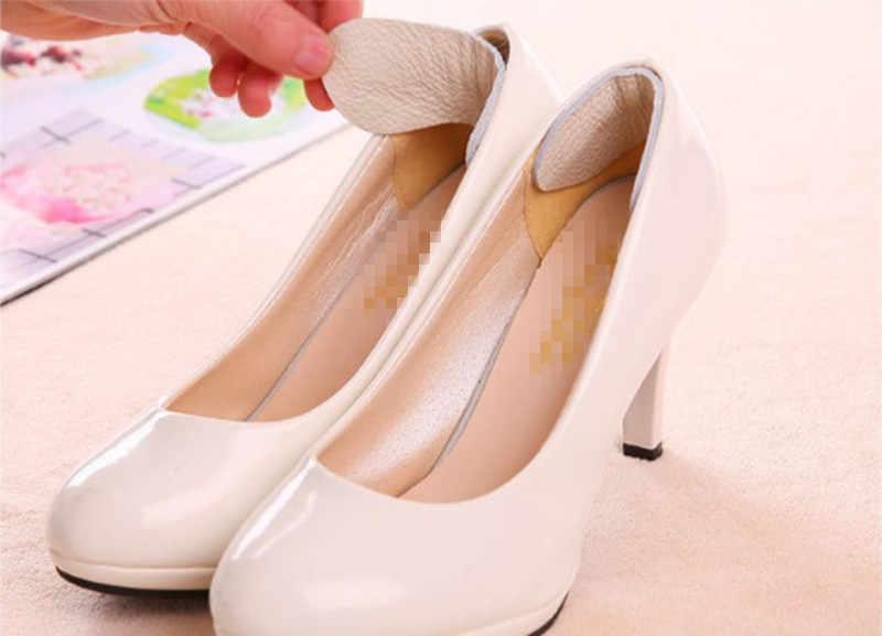 1 คู่ใหม่รองเท้าแผ่นวัวหนัง Insole Liner ผู้หญิงส้น Inserts protector Foot feet Care ใส่รองเท้า Pad รองพื้นเบาะ