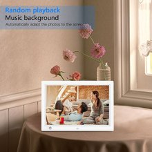 12 inch JP Plug HD LCD Digital Photo Frame & Commercial Advertising Machine Human Sensor Video Player with Remote Control