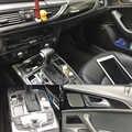 רכב סטיילינג 3D/5D סיבי פחמן רכב פנים מרכז קונסולת צבע שינוי דפוס מדבקת מדבקות עבור אאודי A6 c7 2012-2018