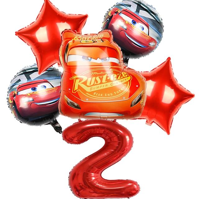 1 Set McQueen Car Disney Children's Birthday Party Decoration Home Decor Foil Balloons Kids Toys 40inch Black Number Air Globos 1