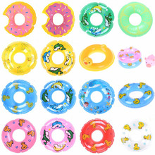 1/3PCS Colourful Doll Swimming Buoy Lifebelt Ring for Doll Accessories Kelly Beach Bathing DIY Baby Kid Bath Toys(China)