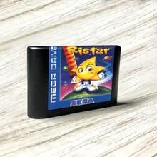 Ristar – carte de circuit imprimé or pour Console de jeu vidéo Sega Genesis Megadrive, avec étiquette Flashkit, MD Electroless