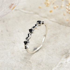 Image 1 - 2019 חם חדש סגנון 925 כסף סטרלינג stackable המפלגה טבעת דוגמניות מקורי מעודן תכשיטי מתנת תכשיטים