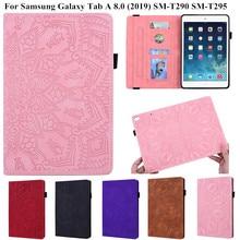 Para Samsung Tab A 8,0 2019 T290 cubierta de cuero Vintage de lujo soporte Smart Case para Samsung Galaxy Tab A 8 funda A8 SM-T290 T295
