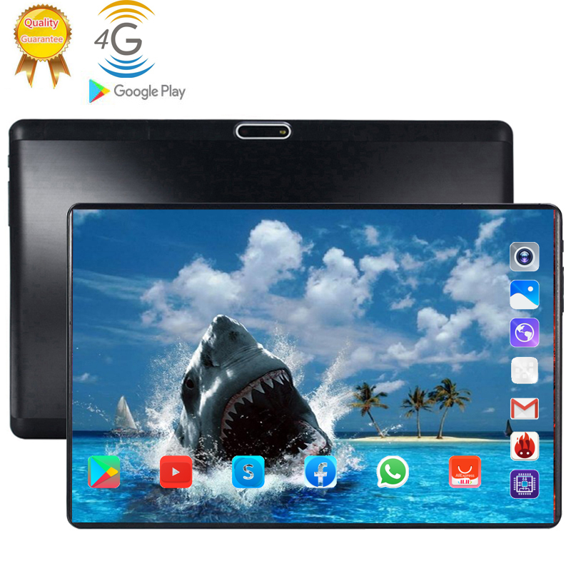Tablet Pc 128G Boy Birthday Present  Android 9.0 10.1 Inch Tablets Octa Core 4G LTE 6GB RAM 128GB ROM 2.5D Screen Tablets Pc