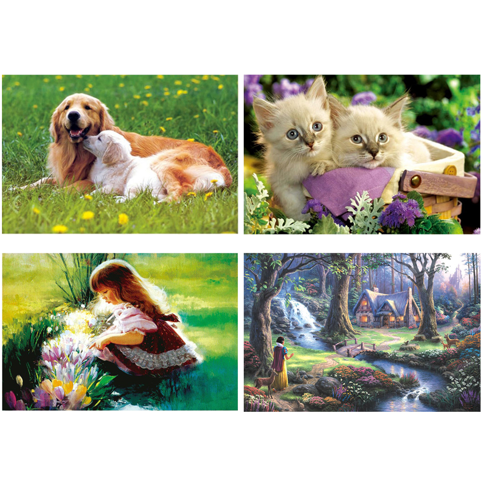 1000pcs 75x50cm Art Jigsaw Puzzle Paper Educational Jigsaw Toys Kids Adult Colorful Beautiful Animal Puzzle Room Picture Decor